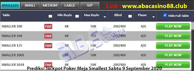 prediksi jackpot poker meja smallest sabtu 5 september 2020