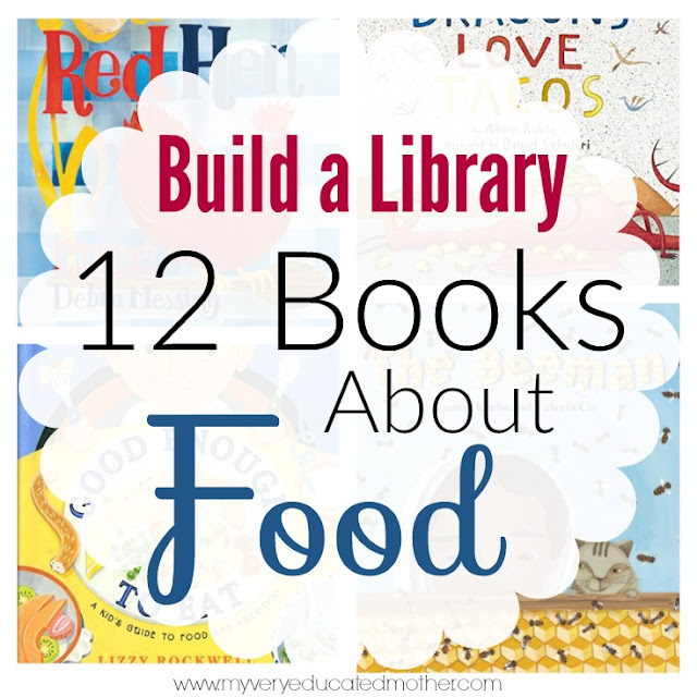 A dozen books about all aspects of food. Growing food, making food, sharing food, and even eating it!