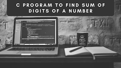C program to find sum of digit  of a number