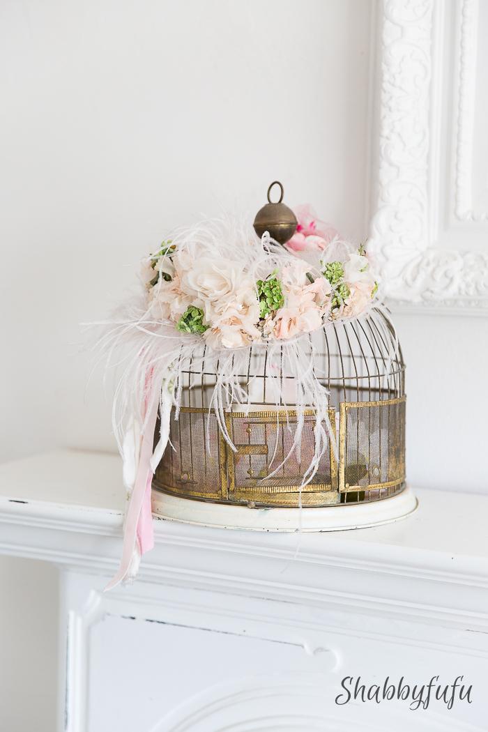 whimsical vintage birdcage spring