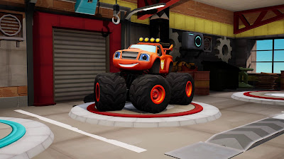 Blaze And The Monster Machines Axle City Racers Game Screenshot 1