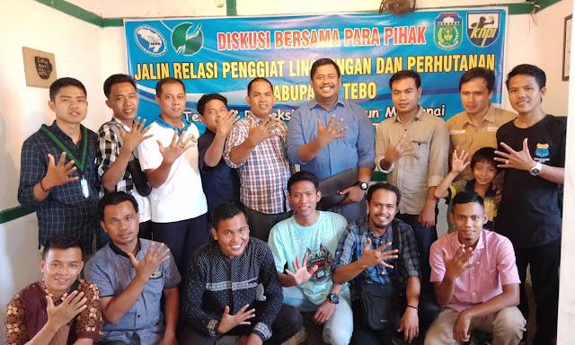 MHPS Tebo Gandeng KNPI Tebo Gelar Diskusi Bersama Para Penggiat Lingkungan dan Perhutanan