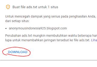 Cara Paang File Ads.txt ke Blogger