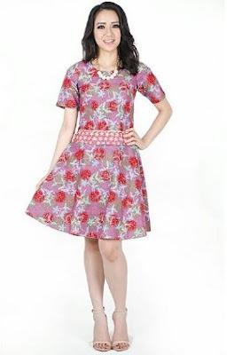 Gaun batik rok pendek model terbaru