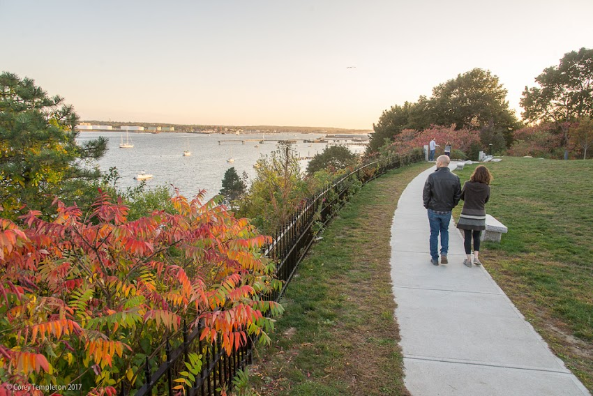 Portland, Maine USA October 2017 photo by Corey Templeton. From an evening stroll through Fort Allen Park, overlooking the entry to Portland Harbor.