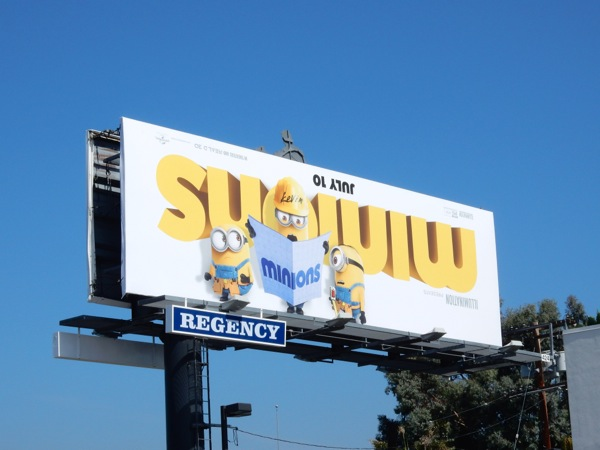 Minions Kevin movie billboard