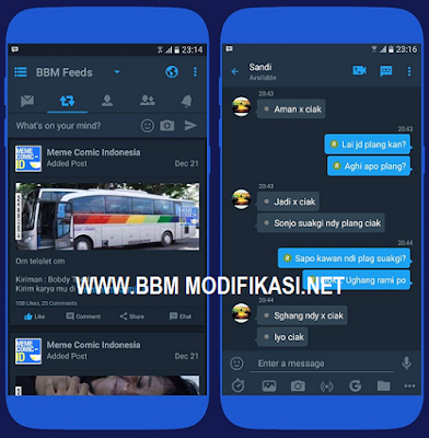 Download Aplikasi BBM Mod MidNight Blue Theme Versi 3.2.0.6 APK