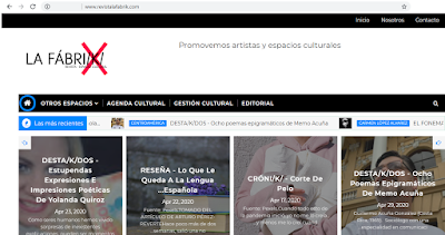 Screenshoot de la pagina