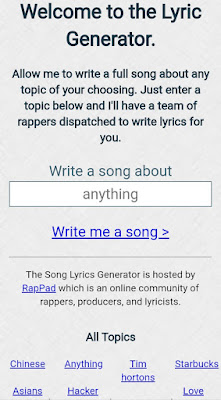 Rappad Song Lyrics generator tool