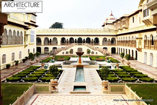 jaipur pink city - courtyard