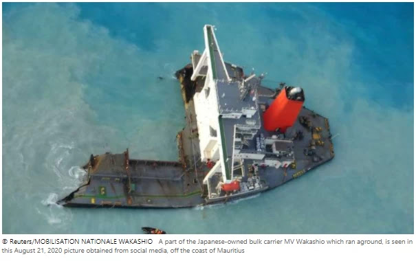 Japan is sending a team to investigate the grounding of the Mauritius ship