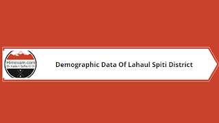Demographic Data Of Lahaul Spiti District