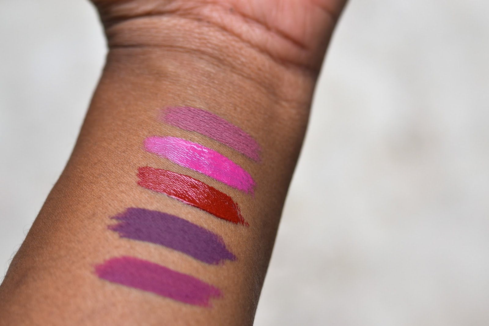Taos Cosmetics lip swatches