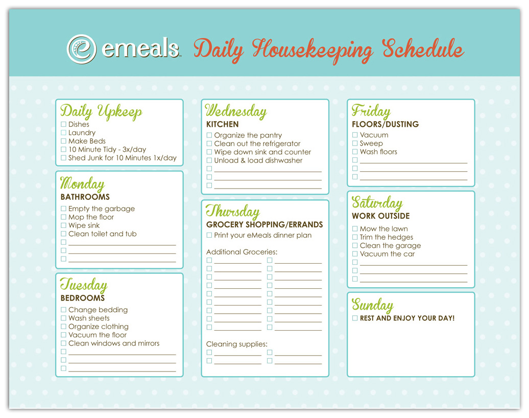 House cleaning services care home cleaning schedule for Domestic cleaning schedule template