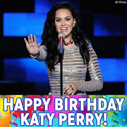 Katy Perry's Birthday Wishes For Facebook