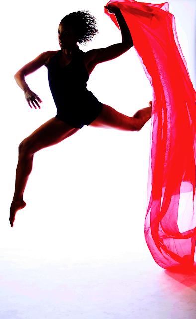photograph of Maura Garcia dancing