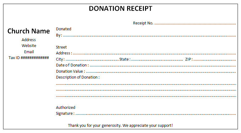 Non Profit Donation Receipt Template Sample - Free Word and JPG - microsoft word receipt template free