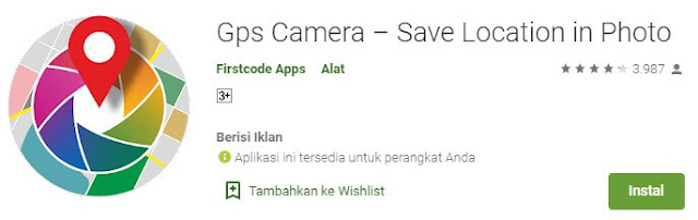 gps camera save location in photo