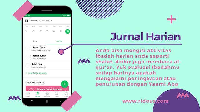 Aplikasi Catatan Amal Yaumiah Terbaik di Android Yaumi Ridous