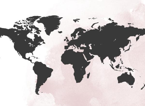 Stalen wereldkaart van Steeltrends