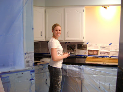 Our Hobby House Painted Faux Granite Countertops