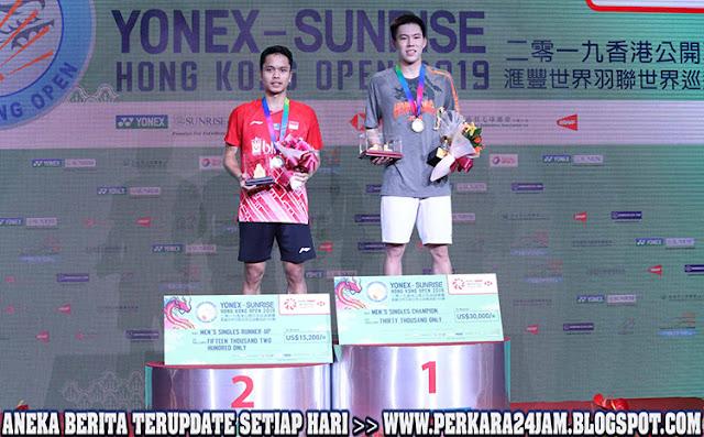 Anthony Sangat Kecewa Marah Jadi Runner Up Di Hongkong Open 2019