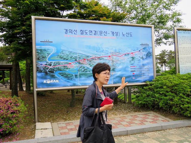 Ginny, our ILoveSeoul tour guide at Dorasan Station in the DMZ
