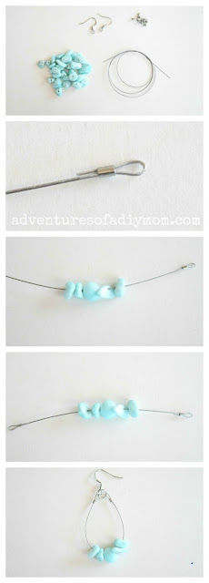 Easy DIY Teardrop Earrings