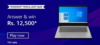 Amazon Thin and Light Quiz Answers