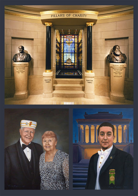 Pillars of Charity. House of the Temple. Scottish Rite, SJ. Supreme Council, 33°. Portraits by Travis Simpkins
