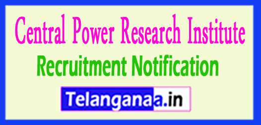 CPRI Central Power Research Institute Recruitment Notification 2017