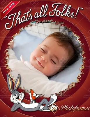 marco de bugs bunny para niños durmiendo