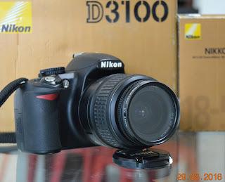 Jual Nikon D3100 + Lensa + Fullset