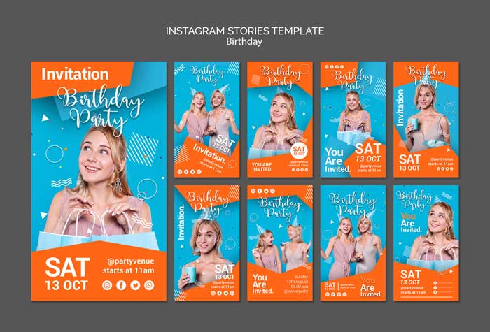 Birthday Party Instagram Stories Template