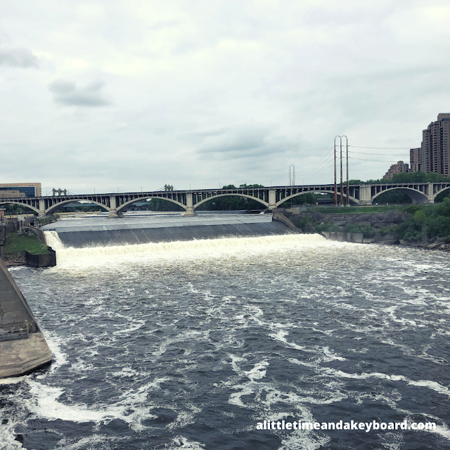 St. Anthony Falls thundering on the Mississippi.