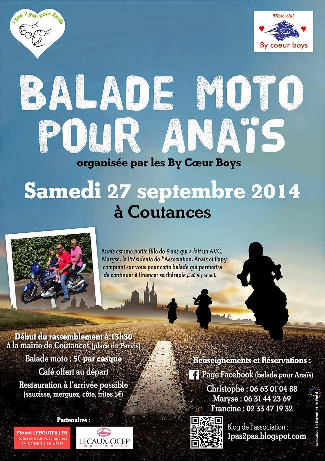 1 Pas 2 Pas Pour Anais Prochain Rendez Vous Balade A Moto
