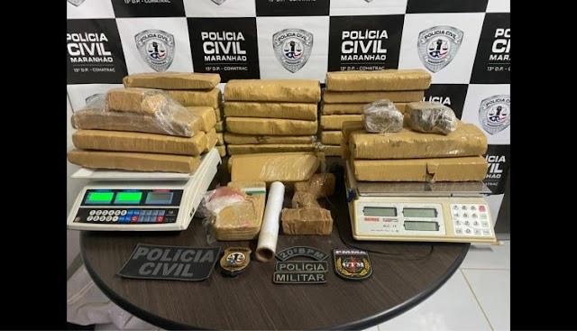 POLÍCIA CIVIL E MILITAR APREENDEM ENTORPECENTES NO BAIRRO DA FORQUILHA