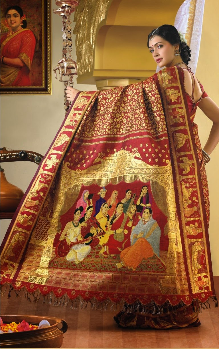 Silk handwoven sari