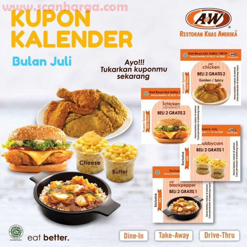 AW Restoran Promo Kupon Kalender Bulan Juli 2020