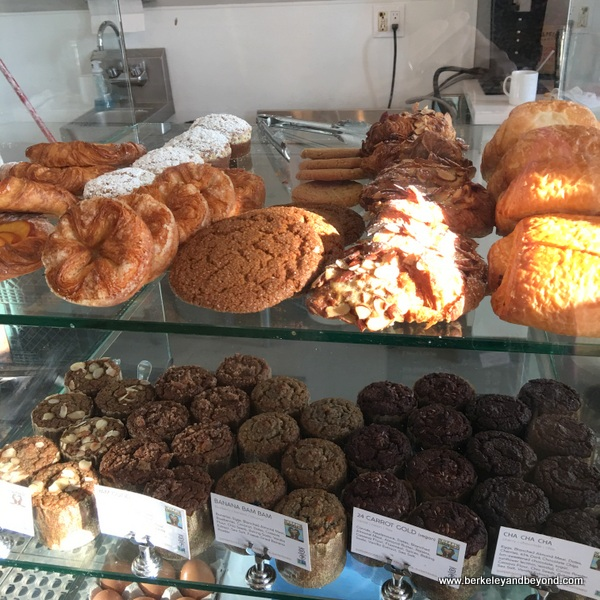 pastry case at Wrecking Ball Coffee Roasters in Berkeley, California
