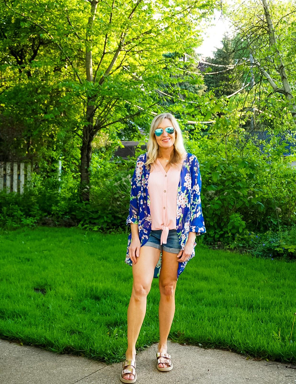 summer kimono outfit idea