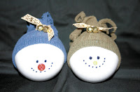 Snowmen Glass Ball Ornaments
