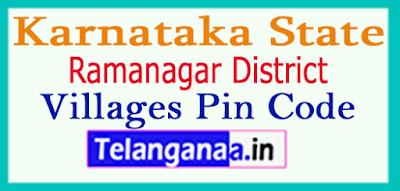 Ramanagar District Pin Codes in Karnataka State