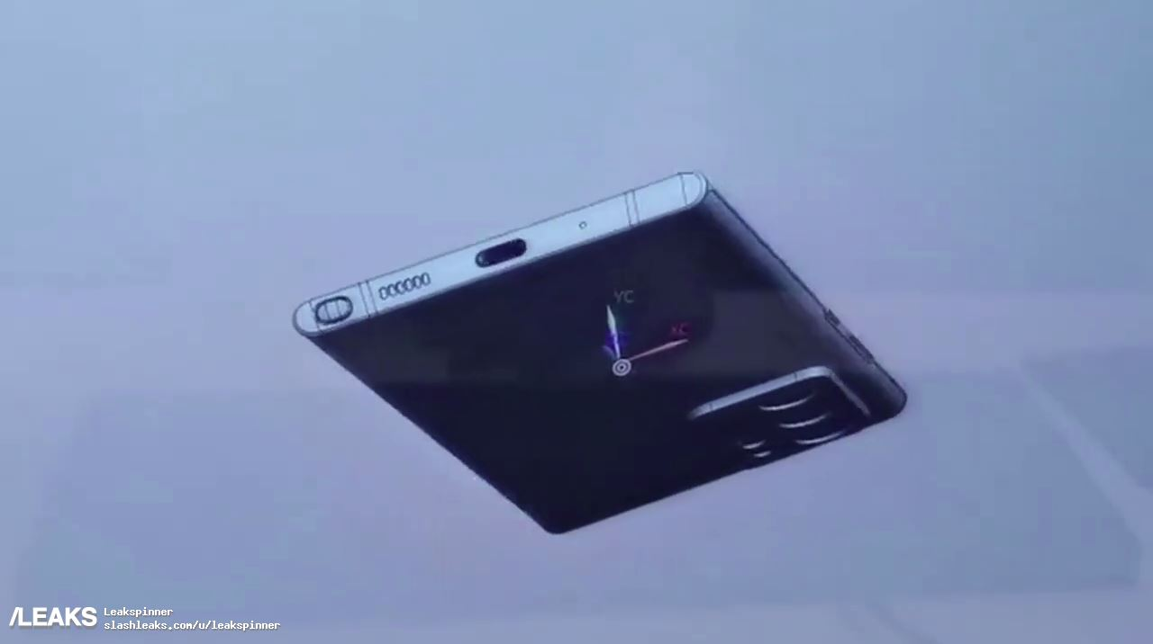 Samsung Galaxy Note20 lit up on CAD images
