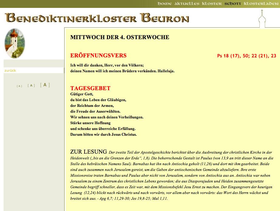 Schott Messbuch Online