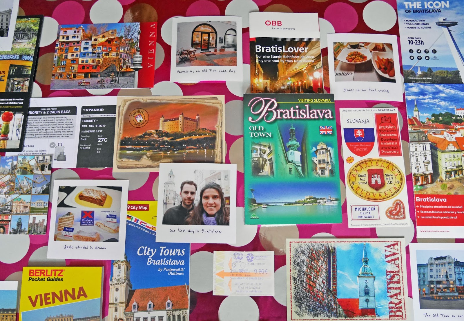 Photos, postcards, leaflets and stickers from Bratislava, Slovakia