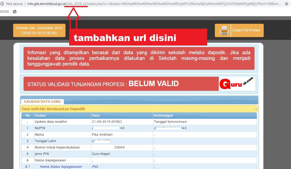 gambar cara cek info gtk tanpa login akun ptk dapodik