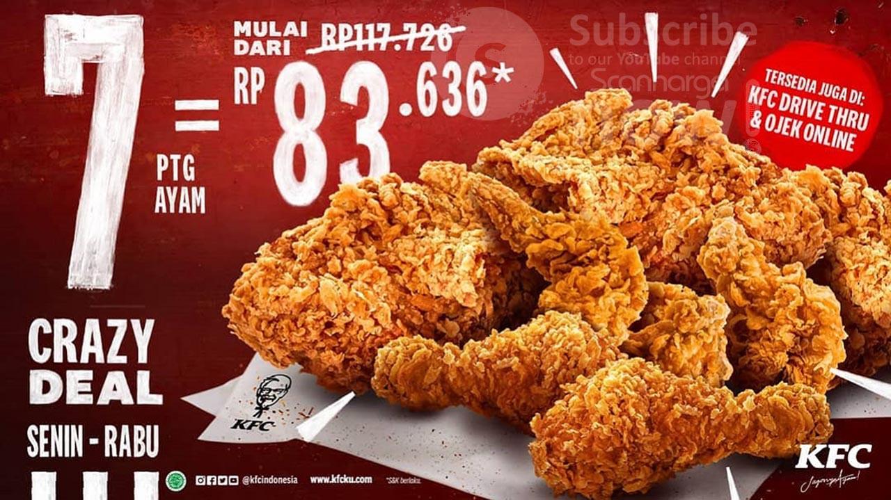 Promo KFC Crazy Deal Senin - Rabu! 7 Potong Ayam mulai dari Rp. 83.636*