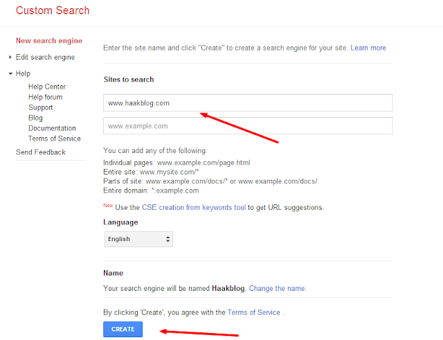 Google Custom Search Engine to Blogger