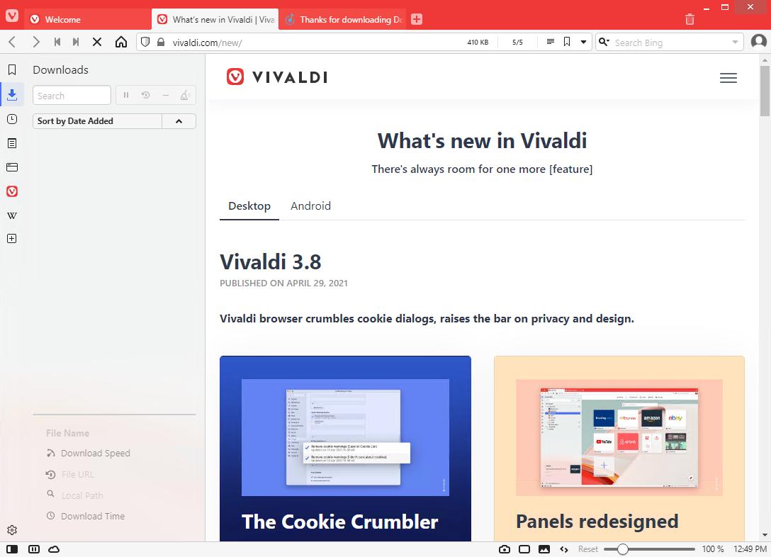 Vivaldi Web Browser 3.8.2259.42
